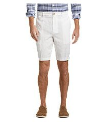 reserve collection traditional fit linen flat front shorts - big & tall by jos. a. bank