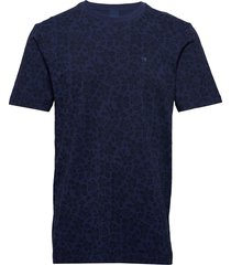 classic cotton/elastane crewneck tee t-shirts short-sleeved blå scotch & soda
