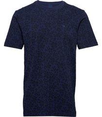 classic cotton/elastane crewneck tee t-shirts short-sleeved blå scotch & soda