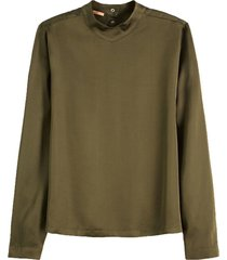 blouse high neck long sleeve groen