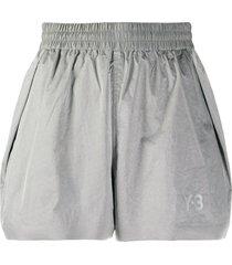 y-3 casual logo shorts - grey