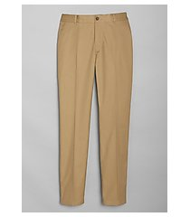 travel tech slim fit flat front casual pants - big & tall clearance by jos. a. bank