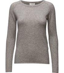 wool & cashmere pullover ls gebreide trui grijs rosemunde