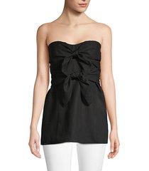 bow linen corset top