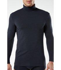maglia a manica lunga in cotone e cashmere con collo alto