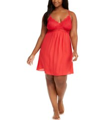 inc plus size lace chiffon chemise nightgown, created for macy's