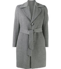 dsquared2 single-breasted belted coat - grey