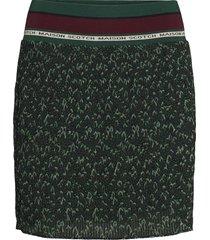 pleated skirt with ribbed waistband kort kjol grön scotch & soda