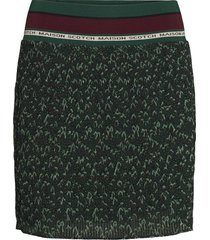 pleated skirt with ribbed waistband kort kjol grön scotch & soda