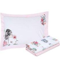jogo de cama 3pçs solteiro kacyumara vida bela cássia rosa
