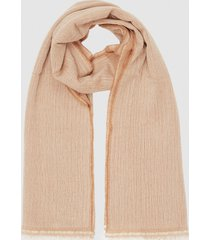 reiss victoria - cashmere blend scarf in camel, womens