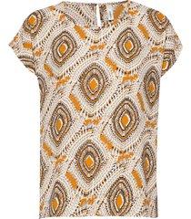 sc-solea blouses short-sleeved beige soyaconcept