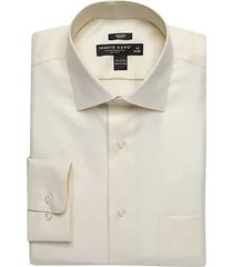 pronto uomo men's ecru queen's oxford slim fit dress shirt - size: 18 1/2 38/39 - only available at men's wearhouse