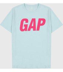 camiseta azul-fucsia gap