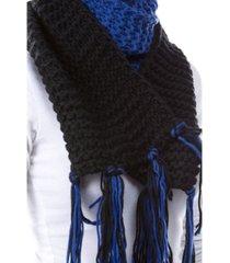 women's color block knit scarf