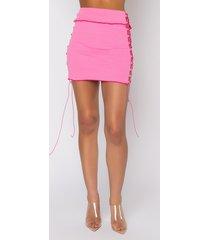 akira city barbie lace up mini skirt