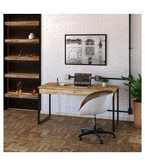 mesa de escritório kuadra 2 gv carvalho 150 cm