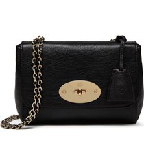 mulberry lily convertible leather shoulder bag - black