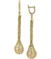 effy cultured freshwater pearl (12mm) cage drop earrings in 18k gold-plated sterling silver
