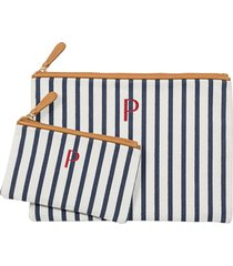 cathy's concepts set of 2 monogram canvas clutches in blue p at nordstrom