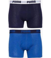 puma puma basic boxer 2p boxershorts blå