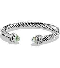 david yurman crossover bracelet with diamonds, size medium in prasiolite at nordstrom