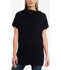 vince camuto short sleeve cowl neck sweater tunic