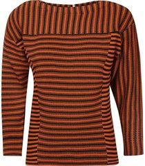 chloé stripe patterned sweatshirt