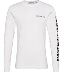 essential instit ls tee t-shirts long-sleeved vit calvin klein jeans