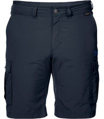 jack wolfskin korte broek canyon cargo shorts night blue-maat 50