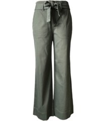 tinseltown juniors' belted wide-leg pants