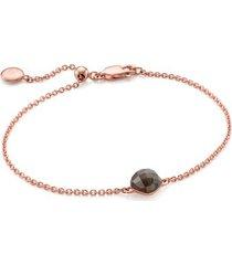 rose gold nura mini nugget bracelet - limited edition labradorite
