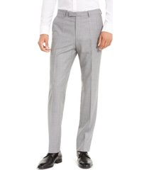 hugo by hugo boss men's slim-fit medium gray stripe suit separate pants