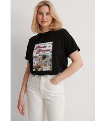 warner bros. ekologisk wonder woman oversized t-shirt - black