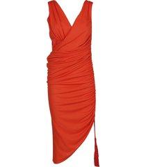 lanvin asymmetric ruched dress