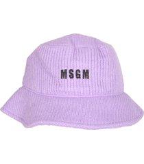 msgm ribbed bucket hat