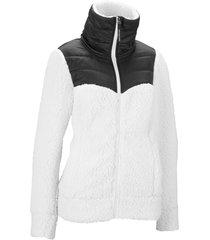 giacca in pile moderna effetto peluche (bianco) - bpc bonprix collection