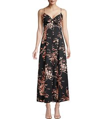 almona floral empire-waist maxi dress