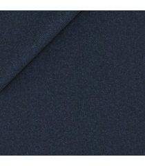pantaloni da uomo su misura, loro piana, blu flanella pettinata, autunno inverno