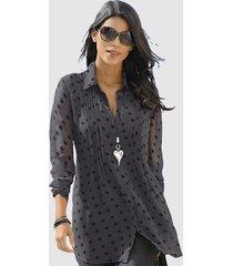 blouse alba moda antraciet