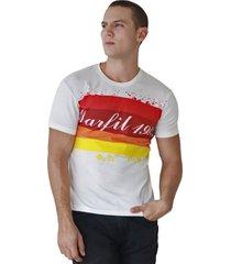 camiseta de hombre marfil slim fit algodon beige