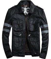 mens pu motocycle jacket resident evil 6 leon scott kennedy cosplay costume