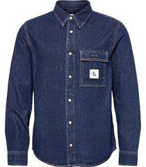 skate shirt skjorta casual blå calvin klein jeans
