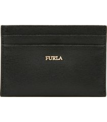 furla women's babylon small credit card case - black