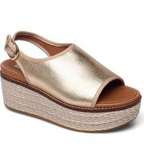 eloise mixed metallics back-strap sandals sandalette med klack espadrilles guld fitflop