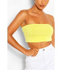 recycled basic bandeau top, lime