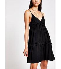 river island womens black tiered cami swing mini dress