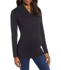 angel maternity maternity/nursing top, size xx-large in black at nordstrom