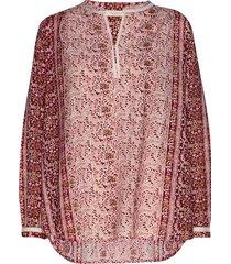 elona blouse lange mouwen roze rabens sal r