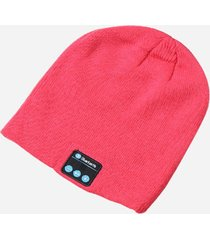 gorro de lana de unisex como audifonos de bluetooth e-thinker - rojo